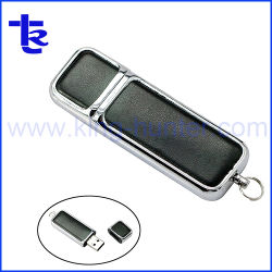 Индивидуального логотипа портативный USB из натуральной кожи флэш-памяти