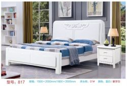 Marco de la cama de madera maciza mobiliario para dormitorios
