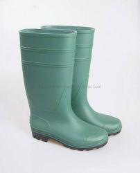Laarzen van de Regen van de Schoenen van de Gom van pvc van de Veiligheid van Afrika de Groene Industriële Waterdichte