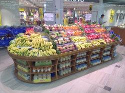 Nouveau style de supermarché d'équipement/de fruits et légumes en bois d'étagère de racks/ Support d'affichage