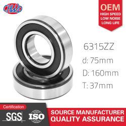 6315 Ouvrir/ZZ/2RS 75x160x37 mm roulement à billes Accessoires de voiture des pièces de voiture les pièces du moteur le roulement à billes à gorge profonde