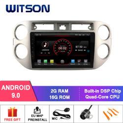 "Witson 9 ""フォルクスワーゲンTiguan 2010-2015年のための大きいスクリーンのアンドロイド9.0車DVD"