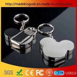 ماوس ميكي الترويجي محرك أقراص فلاش USB من الفولاذ المقاوم للصدأ/محرك أقراص USB محمول معدني