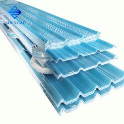 Folha de teto de fibra de vidro Painel de telhas onduladas GRP PRFV Telha à prova de água para o Prédio de Depósito House derramado Construção