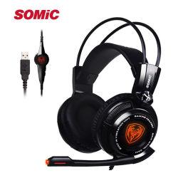 Somic G941 7.1 de son Surround Gaming Headset Headphone avec LED de vibration pour PC/PS4/xBox
