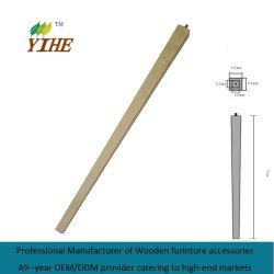 Piedino di legno della Tabella nella figura del quadrato affusolata