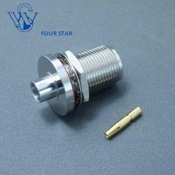 Коаксиальный разъем женщин перегородки типа N разъема Rg401 кабель