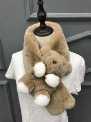 유행 Rex 토끼 모피 스카프 모형: Rrs08009