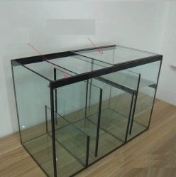 O OEM 10mm Vidro Ultratransparente peixes de aquário Tanque com filtração inferior do cárter