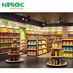 Forme ronde supermarché Wood Promotion Support d'affichage