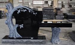 Indischer schwarzer Granit-amerikanische Art-Baum-Form-Denkmäler u. Finanzanzeige-Prüftisch