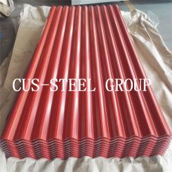 665mm do teto de ferro de aço galvanizado Prepainted folha/folha de metal de metal corrugado PPGI