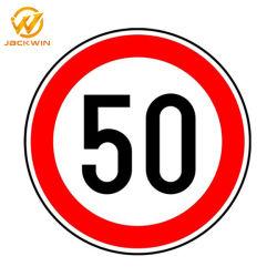 アルミニウム50制限速度の印、反射交通標識