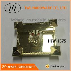 Serratura per la borsa, serratura popolare di immagine doppia dovuta al tergitamburo della tigre del metallo