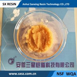 La resina de intercambio de iones-001*8 Gel de la serie de estireno ácido fuerte de resina de intercambio catiónico