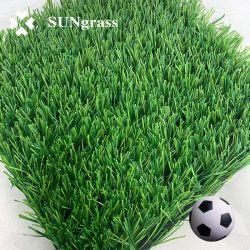 Высокое качество 40мм 50мм искусственных травяных синтетических трава на футбольное поле футбольное поле двухцветный темно зеленый индикатор горит зеленым цветом Ce SGS Certifictae