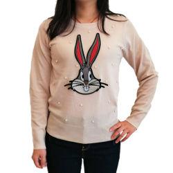 2020 il Knit sottile più poco costoso del pullover del coniglio di disegno più tarda Wholesale/OEM della molla di modo supera il maglione su ordinazione lavorato a maglia manicotto lungo del O-Collo