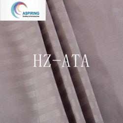 Le coton et polyester/coton drap de lit blanche, bande de tissu satin TC 50/50