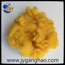 Fibra di graffetta di poliestere nel colore giallo