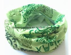 مصنع إنتاج صنع وفقا لطلب الزّبون علامة تجاريّة تماما على طبعة اللون الأخضر بوليستر متعدّد وظائف عنق مسخّن
