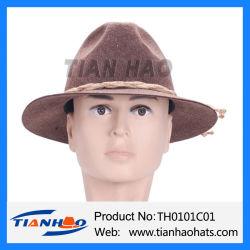 Смешайте коричневый цвет Широкие края знаменитый Октоберфест горных Apline шерсть считает Red Hat