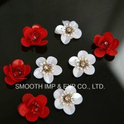 Mode vêtements artisanaux de décoration de fleurs colorées Patch Sequin robe chaussure