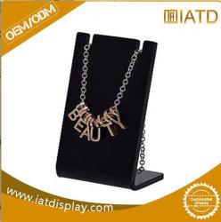 Custom acrílica preta jóias jóias Colar Exibir