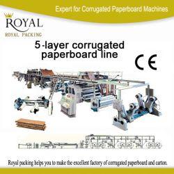 Caixa de Papelão Ondulado Paperboard fazendo a máquina para a camada 5