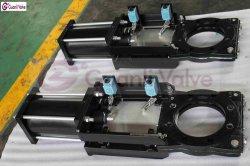 베벨 기어 공압 전기 장치 가 있는 슬러리 나이프 게이트 밸브