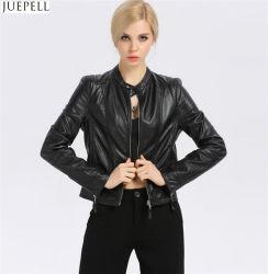Nouveau mode Femmes de la petite veste en cuir collier en cuir Slim courte section de la mode européenne et américaine des vestes de gros