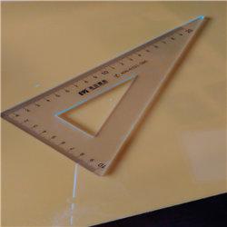 Custom PMMA/durables pour la graduation de règle d'étudiants en plexiglas