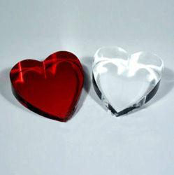 De hart Gestalte gegeven Herinnering van het Kristal, de Presse-papier van het Hart van het Kristal (KS11001)