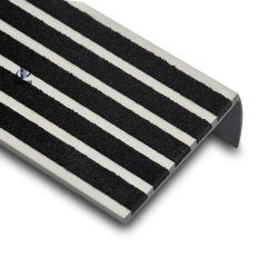 Nosings van de Trede van het Aluminium van de Strook van het carborundum Matte Geanodiseerde