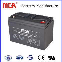 Libre de mantenimiento de la energía solar 12V 100Ah batería de gel de silicona