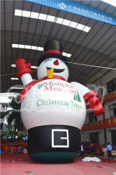 Bekanntmachen aufblasbares Spielzeug-des aufblasbaren Weihnachtsschnee-Mannes