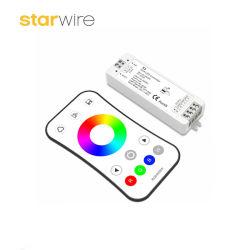 وحدة تحكم RGB LED DC12-24V 2.4G 3 قنوات للتحكم عن بعد باللمس لمدة شريط LED RGB