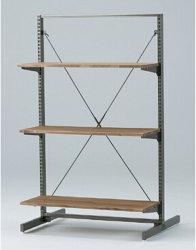 3 Shelfs hölzerne Eisen-Zahnstange für Bildschirmanzeige
