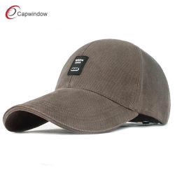 El logotipo de parches de goma pesada de sarga de algodón lavado Pulido Golf gorras de béisbol