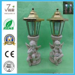 Polyresin Ángulo de la artesanía de la luz solar querubines linterna de jardín para la decoración de jardín