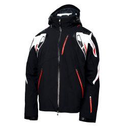 2015 Mens acolchada negra chaqueta de esquí de araña al aire libre