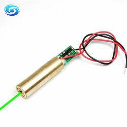 وحدة الصمام الثنائي الباعث للضوء ليزر باللون الأخضر بمعدل 520 نانومتر بقدرة 5 ميجاواط لرؤية الليزر