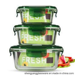 Heet verkoop de Levering voor doorverkoop van de Kruiken van het Glas van het Voedsel van de Rang van het Voedsel in Microgolven wordt gebruikt die