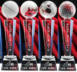 Modello di varie dimensioni del Premio e Trofeo Crystal chiaro