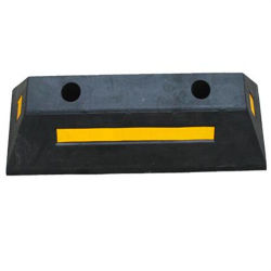 750mm Striped Rubber Parking Blocks
