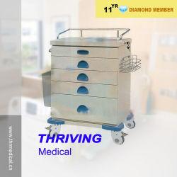 Cajón de plástico ABS de médicos Crash Cart (THR-ZY105)
