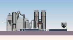El más reciente de lecho fluido diseño gasificador de madera para la venta