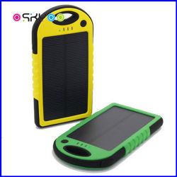 Logotipo personalizado 5000mAh Solar power bank portátil à prova de água