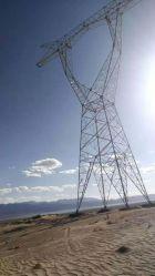 Quatro Patas de transmissão de energia elétrica de alta tensão extrema 1100Kv Angular Torre de aço galvanizado