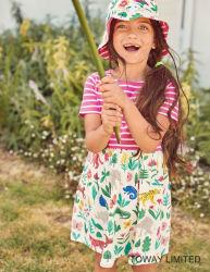 جديدة شريط طفلة لباس داخليّ زهرة طباعة فصل صيف ثوب لأنّ بنت