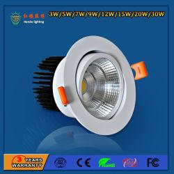 3000/4000/6500K LED circular COB 12W luz tenue Accesorio para Sala de Exposiciones